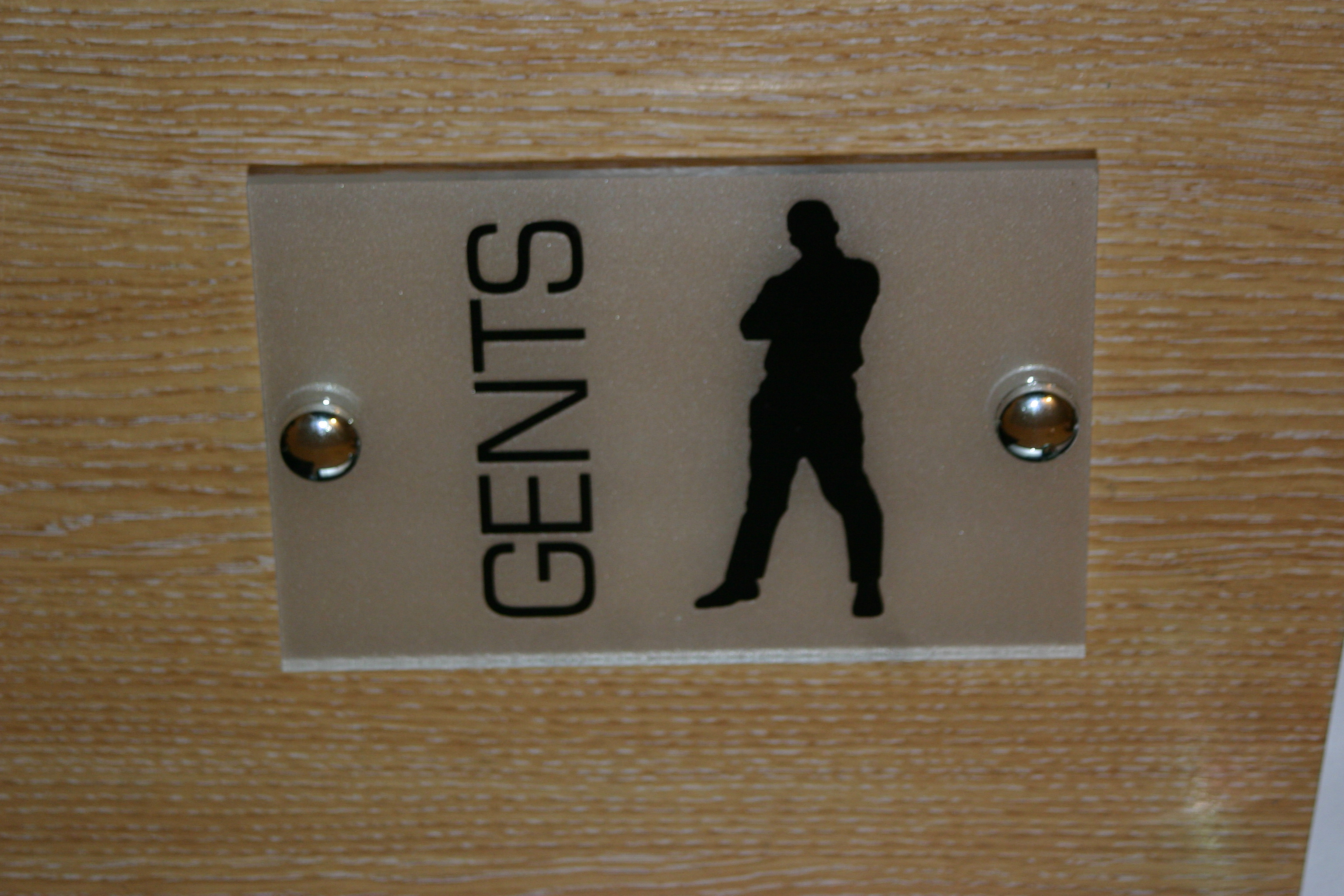 gents modern 150x100 toilet sign plaque quality acrylic with etched backing cut vinyl signs. Black Bedroom Furniture Sets. Home Design Ideas